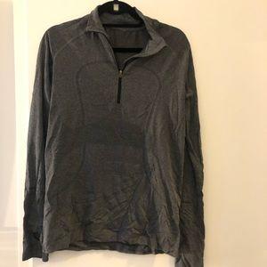 Lululemon light weight grey half zip pullover